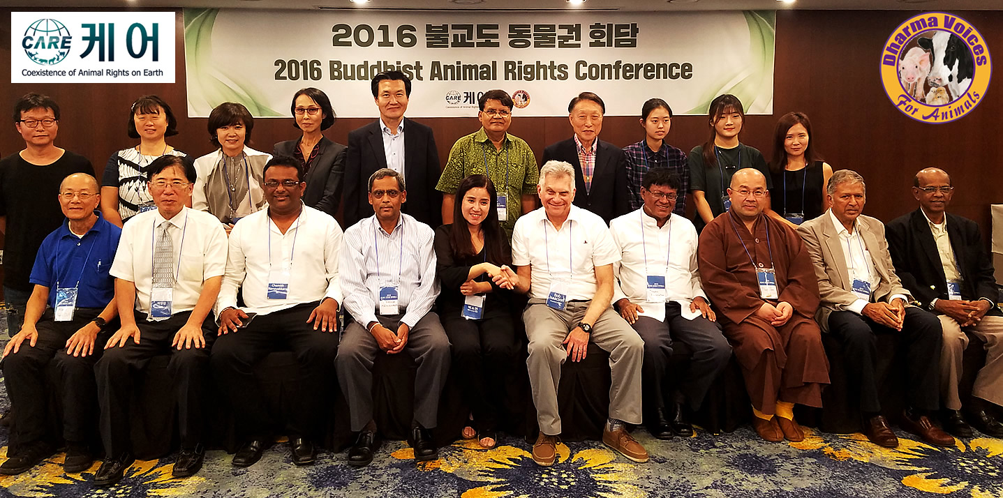 Organizers: left to right. Seated: Albert Mah, Professor Changil Park, Dr. Chamith Nanayakkara, Ananda Mahinkanda, Ms. Soyoun Park, Bob Isaacson, Senaka Weeraratna, Venerable Thich Phuoc Tan, Lakshman Hettiaratchi, Major - General Sardha Abeyratne. Standing: from 5th ( Park, Sang -Kyu, Basumitra Barua, Lee, Tae - Ghill)