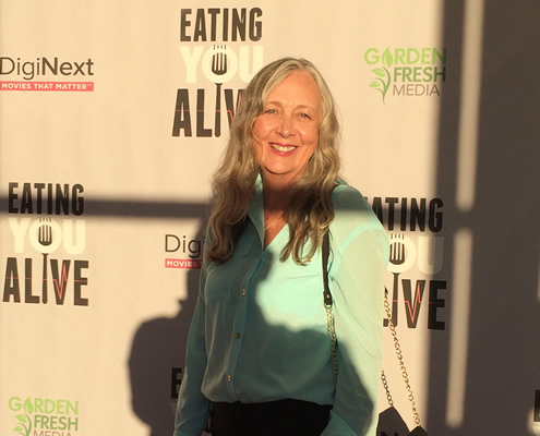 Billie Bussineau at the Eating You Alive premiere (on the red carpet).